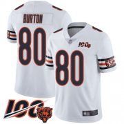 Wholesale Cheap Nike Bears #80 Trey Burton White Men's Stitched NFL 100th Season Vapor Limited Jersey