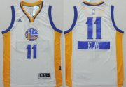 Wholesale Cheap Golden State Warriors #11 Klay Thompson Revolution 30 Swingman 2014 Christmas Day White Jersey