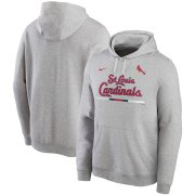Wholesale Cheap St. Louis Cardinals Nike Color Bar Club Pullover Hoodie Gray