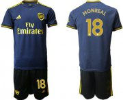 Wholesale Cheap Arsenal #18 Monreal Third Soccer Club Jersey