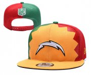 Wholesale Cheap Chargers Team Logo Yellow Red Green 2019 Draft Adjustable Hat YD