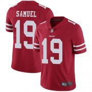 Wholesale Cheap Nike 49ers #19 Deebo Samuel Red Team Color Men's Stitched NFL Vapor Untouchable Limited Jersey