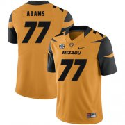 Wholesale Cheap Missouri Tigers 77 Paul Adams Gold Nike College Football Jersey