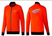 Wholesale Cheap NHL Detroit Red Wings Zip Jackets Orange-1