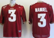 Wholesale Cheap Florida State Seminoles #3 E.J. Manuel Red Jersey