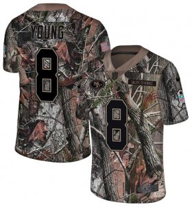 Wholesale Cheap Nike 49ers #8 Steve Young Camo Men\'s Stitched NFL Limited Rush Realtree Jersey
