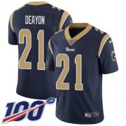 Wholesale Cheap Nike Rams #21 Donte Deayon Navy Blue Team Color Youth Stitched NFL 100th Season Vapor Untouchable Limited Jersey