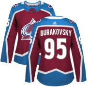 Wholesale Cheap Adidas Avalanche #95 Andre Burakovsky Burgundy Home Authentic Women's Stitched NHL Jersey