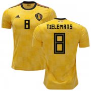 Wholesale Cheap Belgium #8 Tielemans Away Kid Soccer Country Jersey