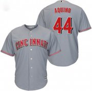 Wholesale Cheap Reds #44 Aristides Aquino Grey Cool Base Stitched Youth MLB Jersey