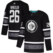 Wholesale Cheap Adidas Jets #26 Blake Wheeler Black Authentic 2019 All-Star Stitched Youth NHL Jersey