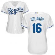 Wholesale Cheap Royals #16 Paulo Orlando White Home Women's Stitched MLB Jersey