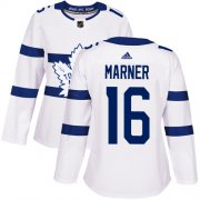 Wholesale Cheap Adidas Maple Leafs #16 Mitchell Marner White Authentic 2018 Stadium Series Women's Stitched NHL Jersey