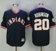 Wholesale Cheap Indians #20 Eddie Robinson Navy Blue 1976 Turn Back The Clock Stitched MLB Jersey