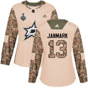 Cheap Adidas Stars #13 Mattias Janmark Camo Authentic 2017 Veterans Day Women's 2020 Stanley Cup Final Stitched NHL Jersey