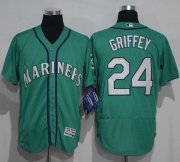 Wholesale Cheap Mariners #24 Ken Griffey Green Flexbase Authentic Collection Stitched MLB Jersey