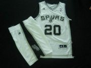 Wholesale Cheap San Antonio Spurs 20 Manu Ginobili White Basketball Suit