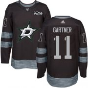 Wholesale Cheap Adidas Stars #11 Mike Gartner Black 1917-2017 100th Anniversary Stitched NHL Jersey