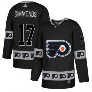 Wholesale Cheap Adidas Flyers #17 Wayne Simmonds Black Authentic Team Logo Fashion Stitched NHL Jersey
