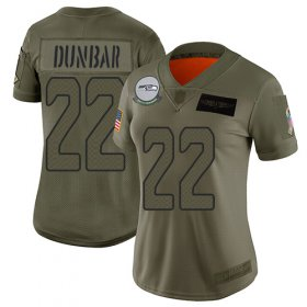 Wholesale Cheap Nike Seahawks #22 Quinton Dunbar Camo Women\'s Stitched NFL Limited 2019 Salute To Service Jersey