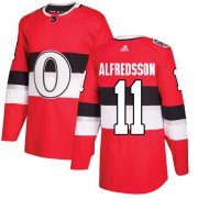 Wholesale Cheap Adidas Senators #11 Daniel Alfredsson Red Authentic 2017 100 Classic Stitched NHL Jersey