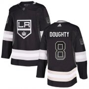 Wholesale Cheap Adidas Kings #8 Drew Doughty Black Home Authentic Drift Fashion Stitched NHL Jersey
