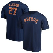 Wholesale Cheap Houston Astros #27 Jose Altuve Majestic 2019 World Series Bound Name & Number T-Shirt Navy