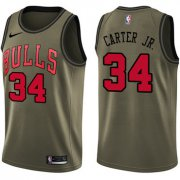 Wholesale Cheap Nike Chicago Bulls #34 Wendell Carter Jr. Green NBA Swingman Salute to Service Jersey
