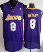 Wholesale Cheap Los Angeles Lakers #8 Kobe Bryant Purple Swingman Jersey
