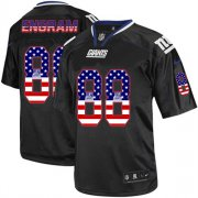 Wholesale Cheap Nike Giants #88 Evan Engram Black Men's Stitched NFL Elite USA Flag Fashion Jersey