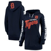 Wholesale Cheap Detroit Tigers G-III 4Her by Carl Banks Women's Extra Innings Pullover Hoodie Navy