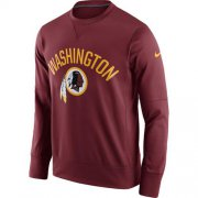 Wholesale Cheap Men's Washington Redskins Nike Burgundy Sideline Circuit Performance Sweatshirt