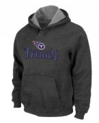 Wholesale Cheap Tennessee Titans Authentic Logo Pullover Hoodie Dark Grey