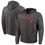 Wholesale Cheap Tampa Bay Buccaneers Majestic Hyper Stack Full-Zip Hoodie Heathered Charcoal