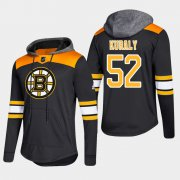 Wholesale Cheap Bruins #52 Sean Kuraly Black 2018 Pullover Platinum Hoodie