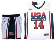 Wholesale Cheap USA Basketball Retro 1992 Olympic Dream Team 14 Charles Barkley White Basketball Suit