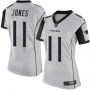 Wholesale Cheap Nike Falcons #11 Julio Jones Gray Women's Stitched NFL Limited Gridiron Gray II Jersey
