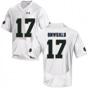 Wholesale Cheap Notre Dame Fighting Irish 17 James Onwualu White College Football Jersey