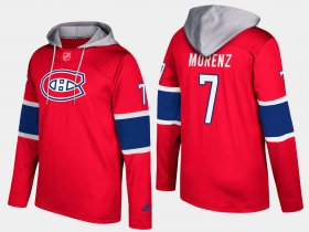 Wholesale Cheap Canadiens #7 Howie Morenz Red Name And Number Hoodie