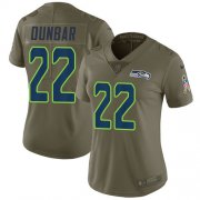 Wholesale Cheap Nike Seahawks #22 Quinton Dunbar Olive Women's Stitched NFL Limited 2017 Salute To Service Jersey