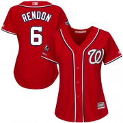 Wholesale Cheap Nationals #6 Anthony Rendon Red Alternate 2019 World Series Champions Women's Stitched MLB Jersey