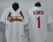 Wholesale Cheap Cardinals #1 Ozzie Smith White New Cool Base Stitched MLB Jersey