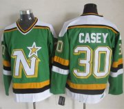 Wholesale Cheap Stars #30 Jon Casey Green CCM Throwback Stitched NHL Jersey