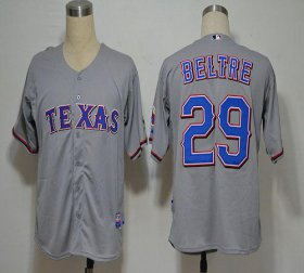 Wholesale Rangers #29 Adrian Beltre Grey Cool Base Stitched Baseball Jersey