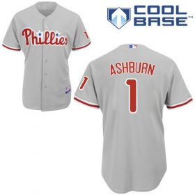 Wholesale Cheap Phillies #1 Richie Ashburn Grey Cool Base Stitched Youth MLB Jersey