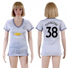 Wholesale Cheap Women\'s Manchester United #38 Tuanzebe Sec Away Soccer Club Jersey