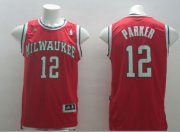 Wholesale Cheap Milwaukee Bucks #12 Jabari Parker Revolution 30 Swingman Red Jersey