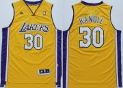 Wholesale Cheap Los Angeles Lakers #30 Julius Randle Revolution 30 Swingman Yellow Jersey