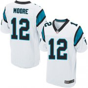 Wholesale Cheap Nike Panthers #12 DJ Moore White Men's Stitched NFL Elite Jersey