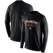 Wholesale Cheap Miami Marlins Nike Practice Long Sleeve T-Shirt Black